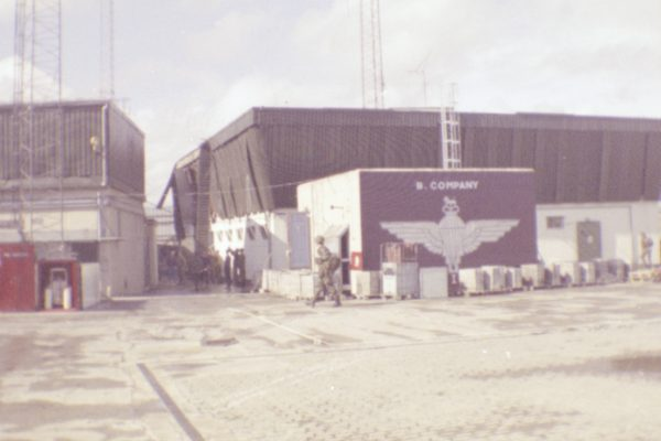 The base at Crossmaglen, South Armagh, Northern Ireland. I served there with the Paras in 1988. Note the damage to the right hand building from an IRA mortar bomb attack.